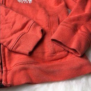 OshKosh B'gosh Shirts & Tops - Oshkosh 3T zip up hoodie orange surf boys toddler